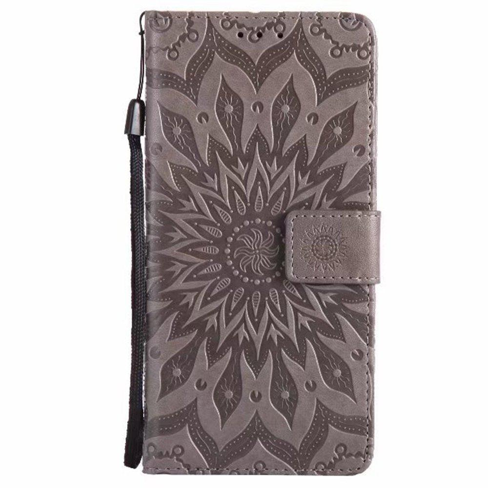 Fancy Pure Color Sunflower Pattern Leather for Xiaomi 5X