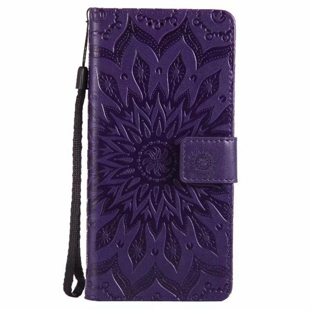 Shops Pure Color Sunflower Pattern Leather for Xiaomi 5X