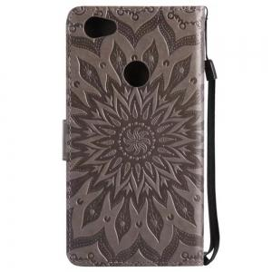 Pure Color Sunflower Pattern Leather for Redmi Note 5A -