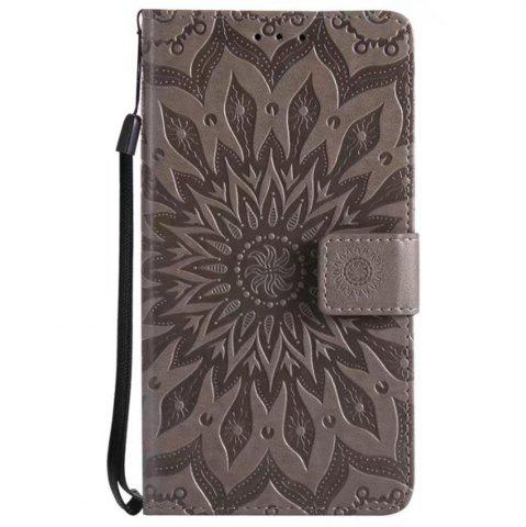 Latest Pure Color Sunflower Pattern Leather for Redmi Note 5A