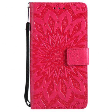 Affordable Pure Color Sunflower Pattern Leather for Redmi Note 5A