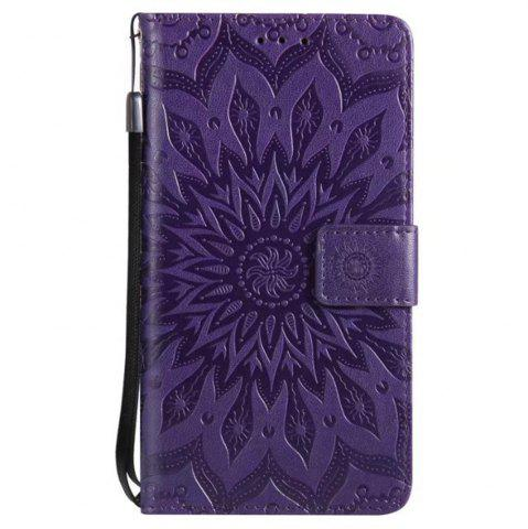 Fancy Pure Color Sunflower Pattern Leather for Redmi Note 5A