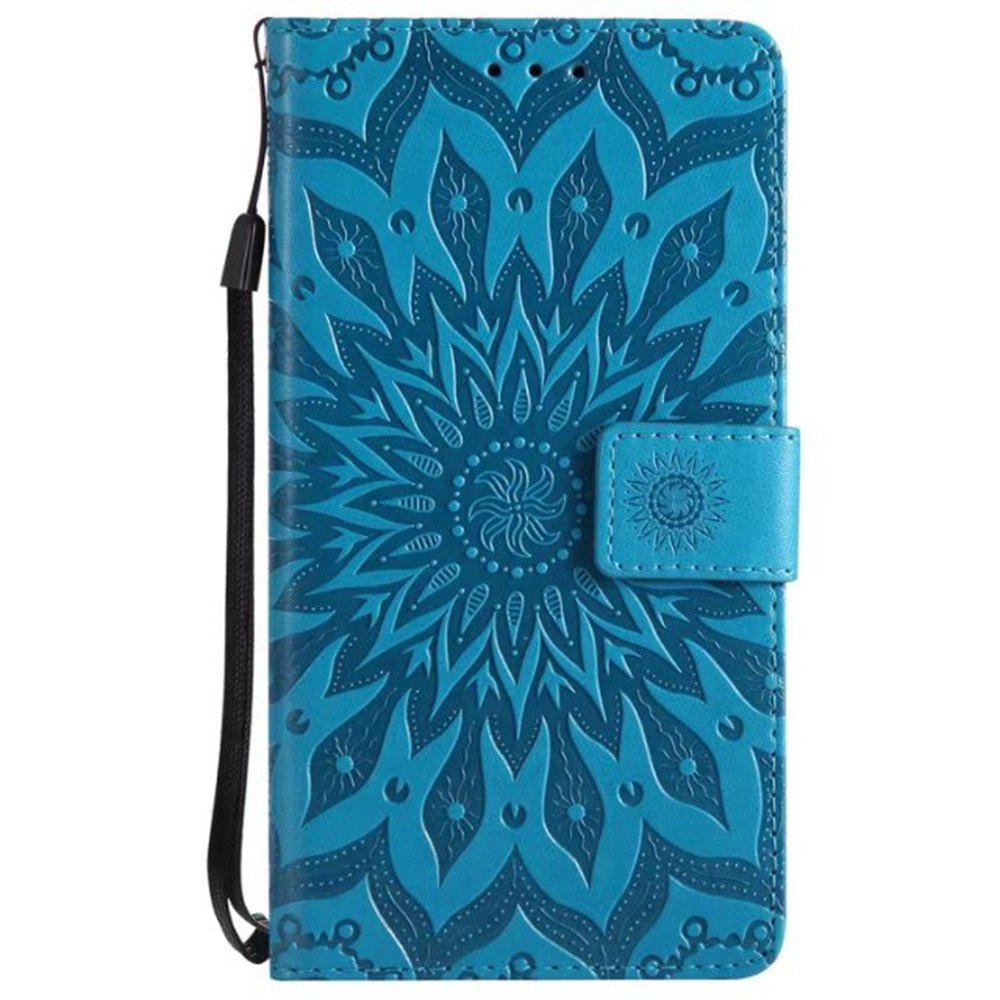 Chic Pure Color Sunflower Pattern Leather for Redmi Note 5A