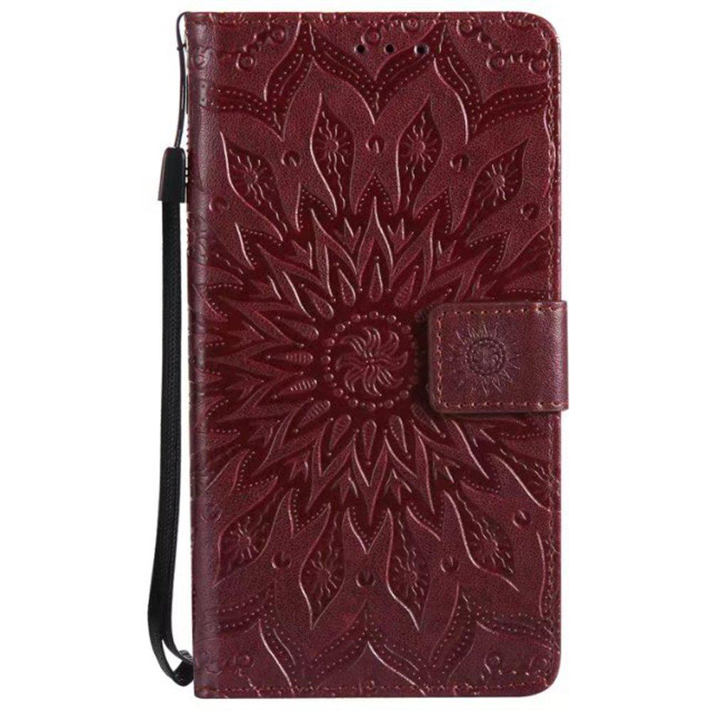 Trendy Pure Color Sunflower Pattern Leather for Redmi Note 5A