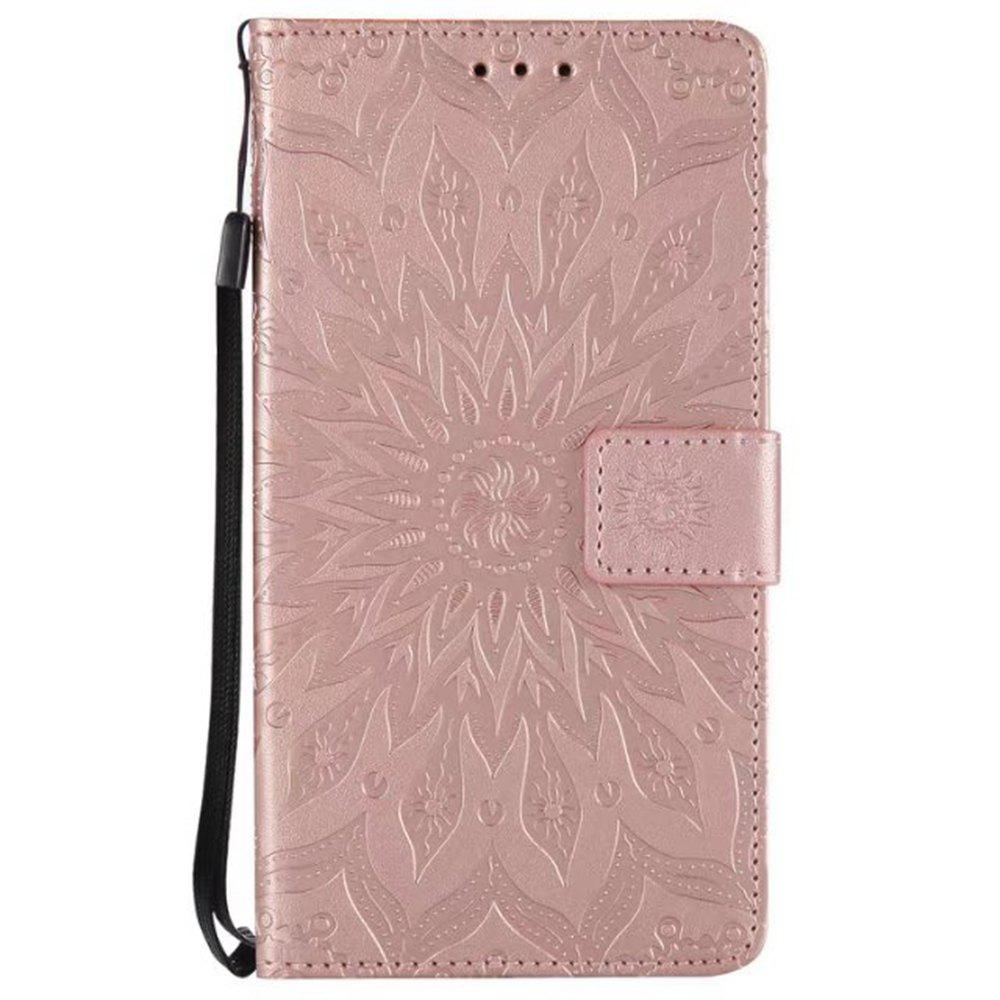 Buy Pure Color Sunflower Pattern Leather for Redmi Note 5A