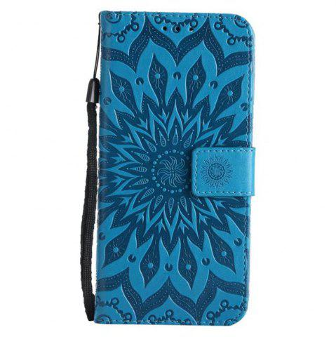 Shops Pure Color Sunflower Pattern Leather for Huawei Honor 7X