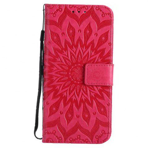 Fancy Pure Color Sunflower Pattern Leather for Huawei Honor 7X