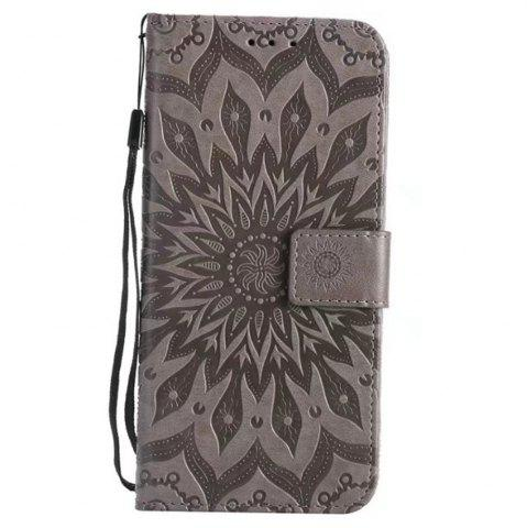 Buy Pure Color Sunflower Pattern Leather for Huawei Honor 7X