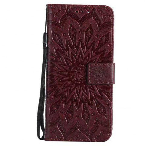 Outfits Pure Color Sunflower Pattern Leather for Huawei Honor 7X