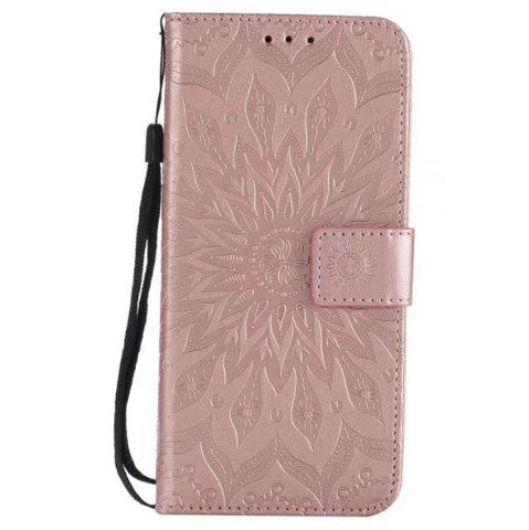 Trendy Pure Color Sunflower Pattern Leather for Huawei Honor 7X