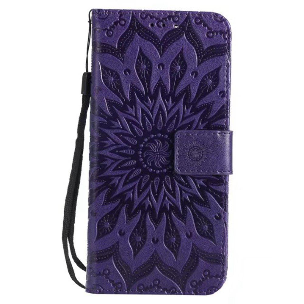 Fashion Pure Color Sunflower Pattern Leather for Huawei Honor 7X
