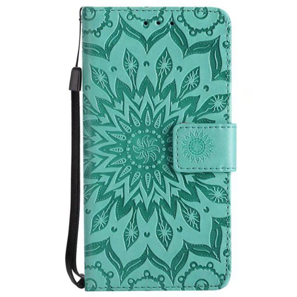Sale Pure Color Sunflower Pattern Leather for Moto C European Edition