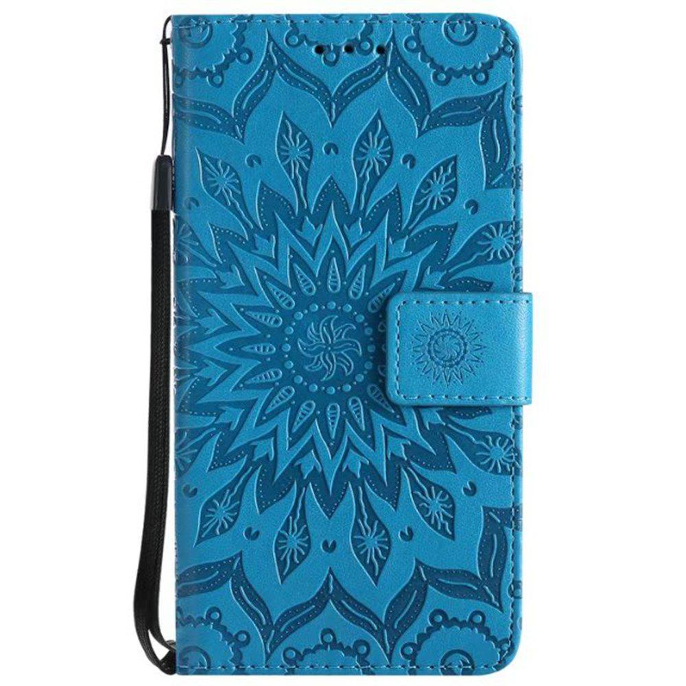 Discount Pure Color Sunflower Pattern Leather for Moto C European Edition