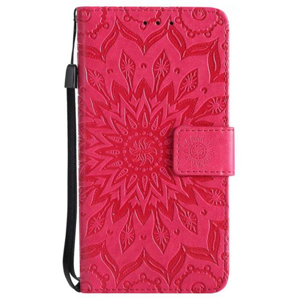 Fashion Pure Color Sunflower Pattern Leather for Moto C European Edition