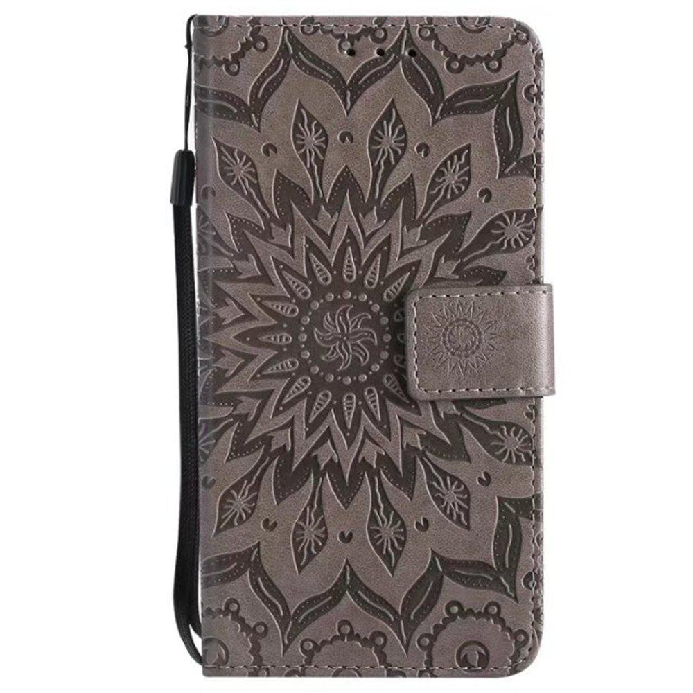 Outfit Pure Color Sunflower Pattern Leather for Moto C European Edition