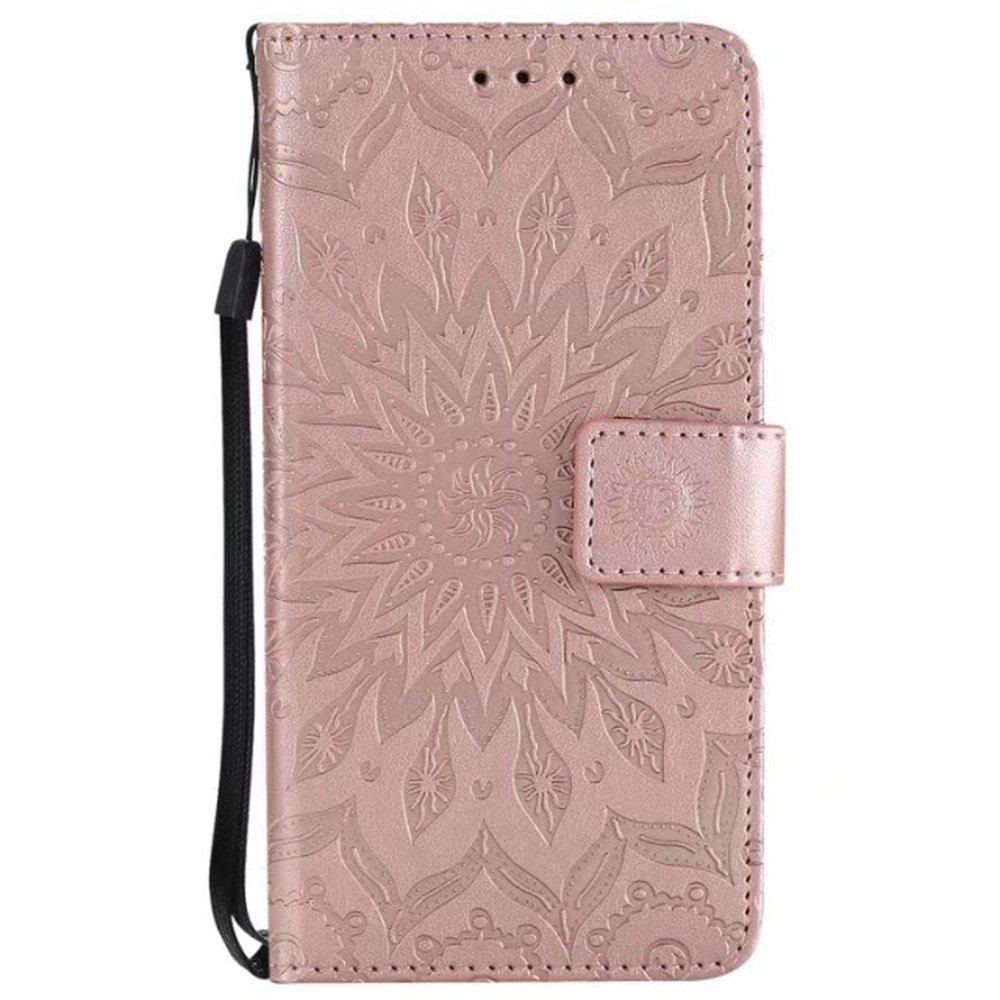 Shops Pure Color Sunflower Pattern Leather for Moto C European Edition