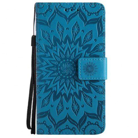 Buy Pure Color Sunflower Pattern Leather for Moto C Plus European Edition
