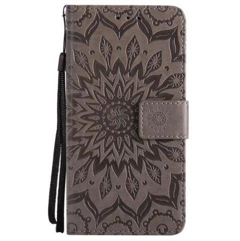 New Pure Color Sunflower Pattern Leather for Moto C Plus European Edition