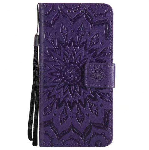 Sale Pure Color Sunflower Pattern Leather for Moto C Plus European Edition