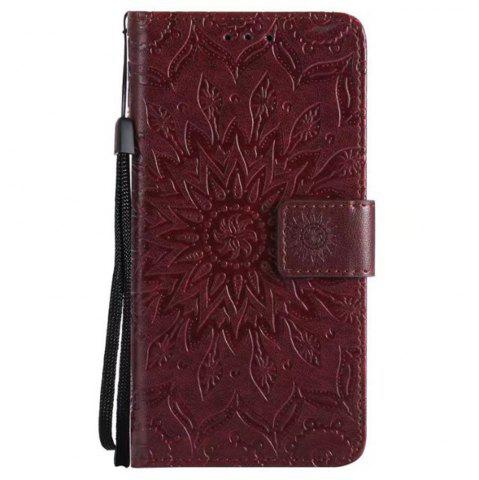 Fancy Pure Color Sunflower Pattern Leather for Moto C Plus European Edition
