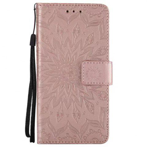Online Pure Color Sunflower Pattern Leather for Moto C Plus European Edition