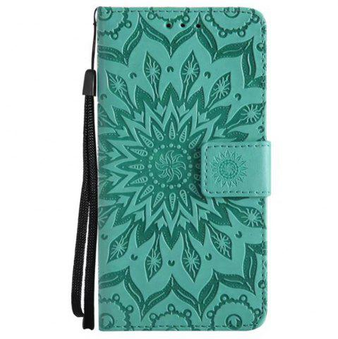 Cheap Pure Color Sunflower Pattern Leather for Moto E4 European Edition
