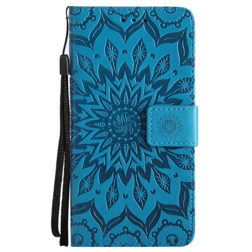 Buy Pure Color Sunflower Pattern Leather for Moto E4 European Edition