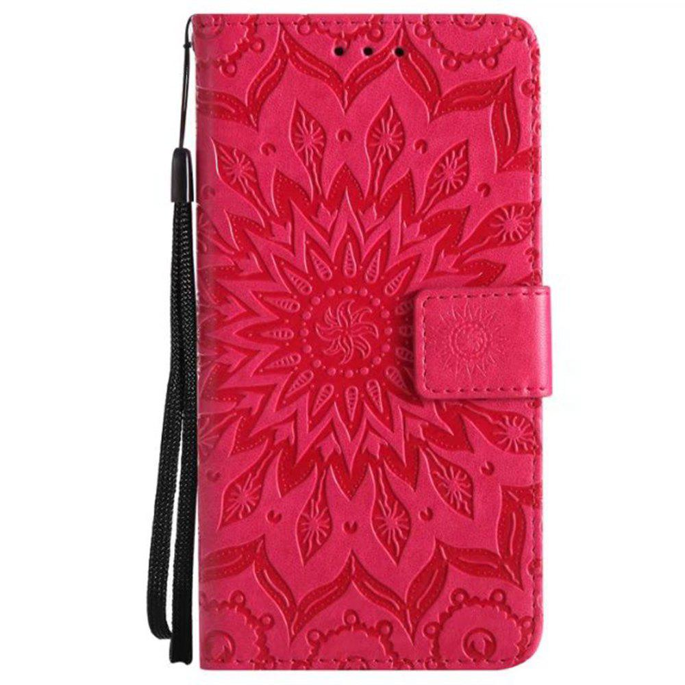 Shops Pure Color Sunflower Pattern Leather for Moto E4 European Edition