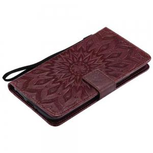 Pure Color Sunflower Pattern Leather for Moto E4 Plus European Edition -