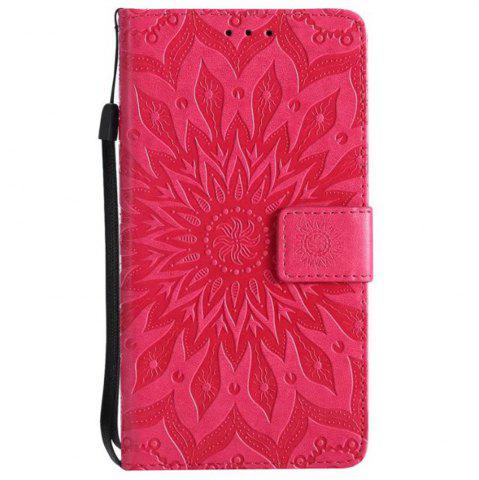 Chic Pure Color Sunflower Pattern Leather for Moto E4 Plus European Edition