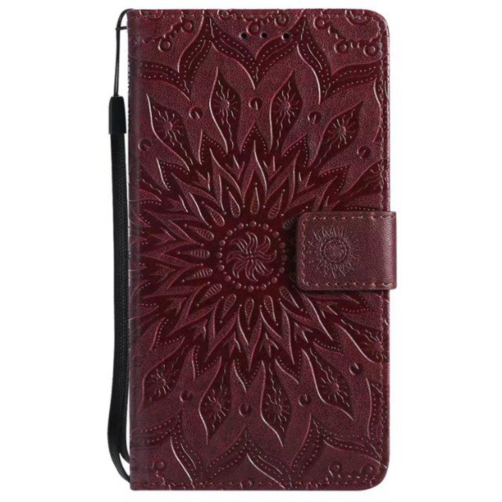 Latest Pure Color Sunflower Pattern Leather for Moto E4 Plus European Edition