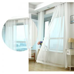 Grommet Semi-Sheer Curtains - Beautiful  Elegant  Natural Light Flow  and Durable Material White 6-32 -