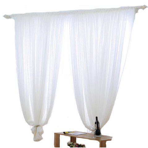 Store Grommet Semi-Sheer Curtains - Beautiful  Elegant  Natural Light Flow  and Durable Material White 6-32