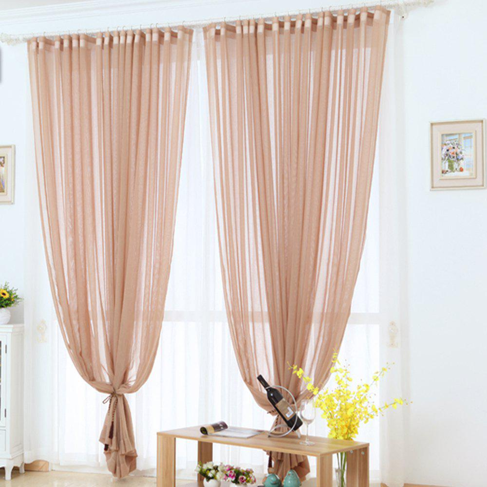 Online Grommet Semi-Sheer Curtains - Beautiful  Elegant  Natural Light Flow  and Durable Material White 6-32