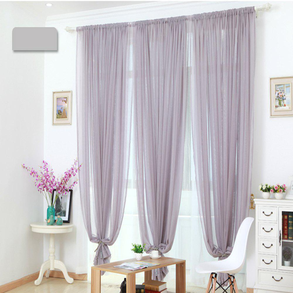Fancy Grommet Semi-Sheer Curtains - Beautiful  Elegant  Natural Light Flow  and Durable Material White 6-32