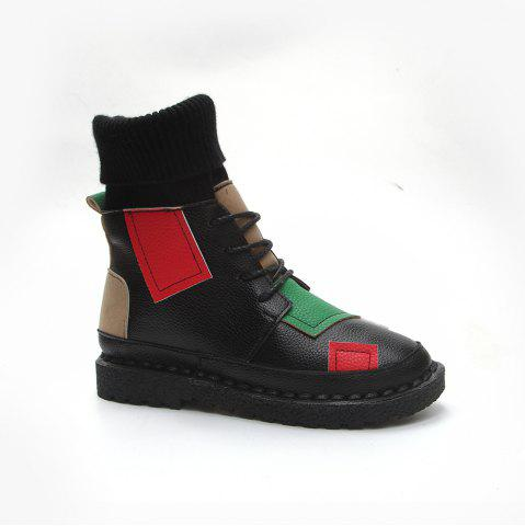 Unique Winter Cotton Fashion Casual and Low Heel Boots
