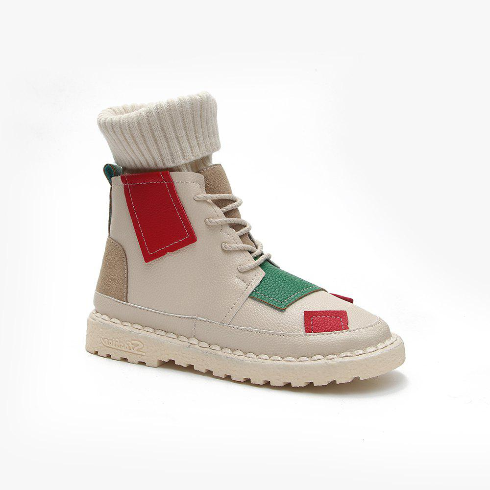 Latest Winter Cotton Fashion Casual and Low Heel Boots