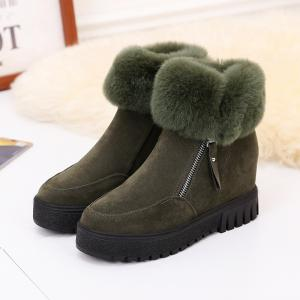 PCA19 Leisure Fashion Warm Comfortable and Pure Color with Round Head and Short Boots -