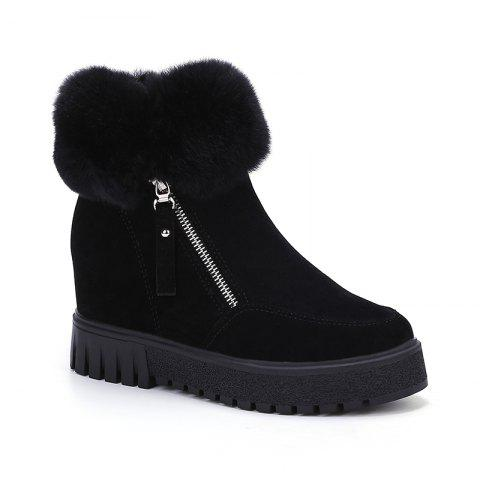 Buy PCA19 Leisure Fashion Warm Comfortable and Pure Color with Round Head and Short Boots