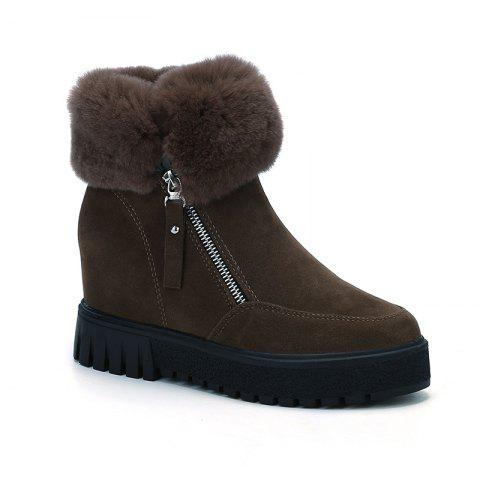 Fancy PCA19 Leisure Fashion Warm Comfortable and Pure Color with Round Head and Short Boots