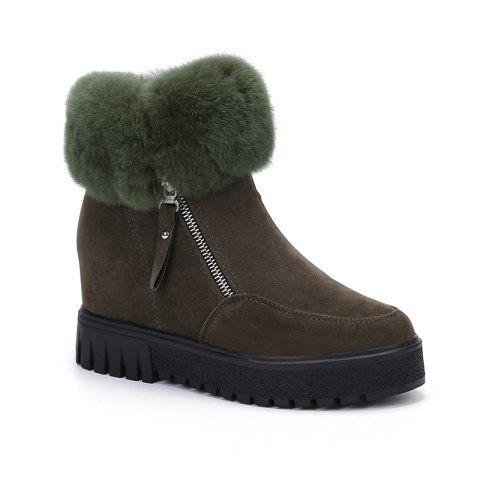 Online PCA19 Leisure Fashion Warm Comfortable and Pure Color with Round Head and Short Boots