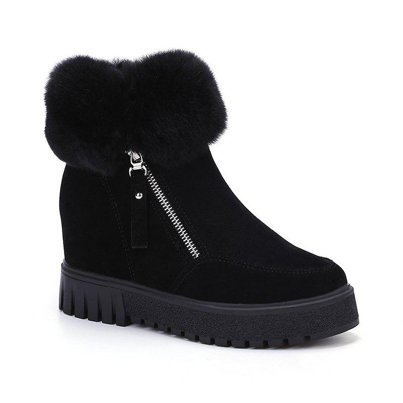 Chic PCA19 Leisure Fashion Warm Comfortable and Pure Color with Round Head and Short Boots