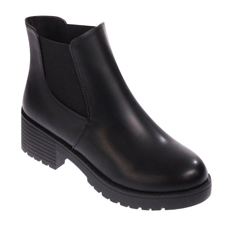 Shop XY189 Contracted Women'S Autumn Winter Leisure Round Head Low Heel Chelsea Boots