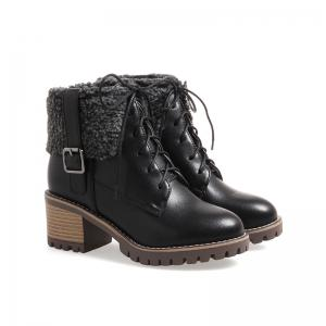 New Autumn And Winter New Comfort Large Air And Thick With Round Head Women's Boots -