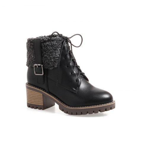 Store New Autumn And Winter New Comfort Large Air And Thick With Round Head Women's Boots