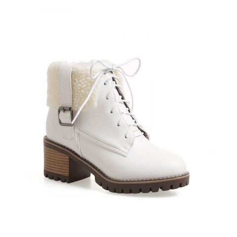 Affordable New Autumn And Winter New Comfort Large Air And Thick With Round Head Women's Boots