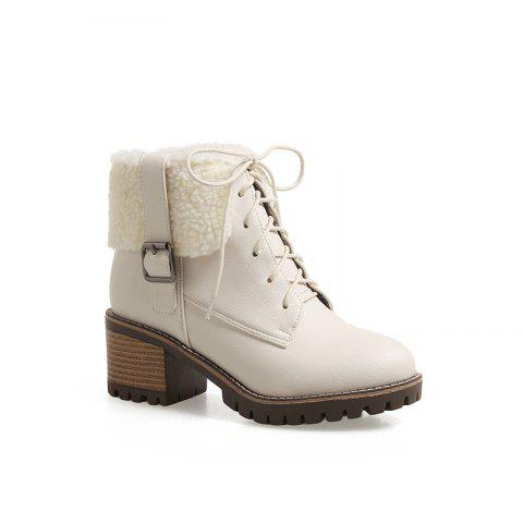 Chic New Autumn And Winter New Comfort Large Air And Thick With Round Head Women's Boots