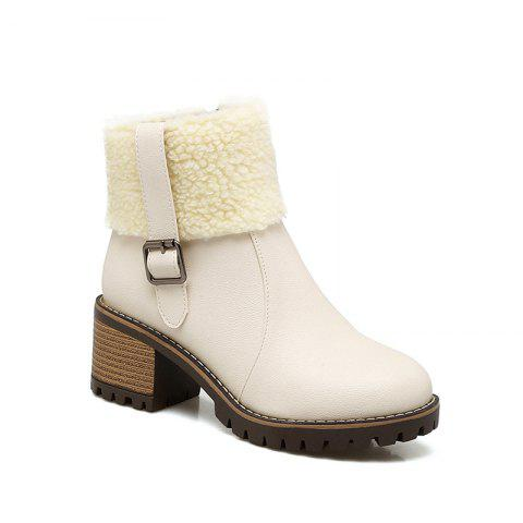 Discount New Winter  Flanged Buttoned Up And Short Female Boot