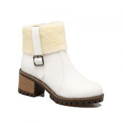 New Winter  Flanged Buttoned Up And Short Female Boot -