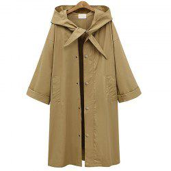Vogue White Cap Windbreaker Female Street Coat -